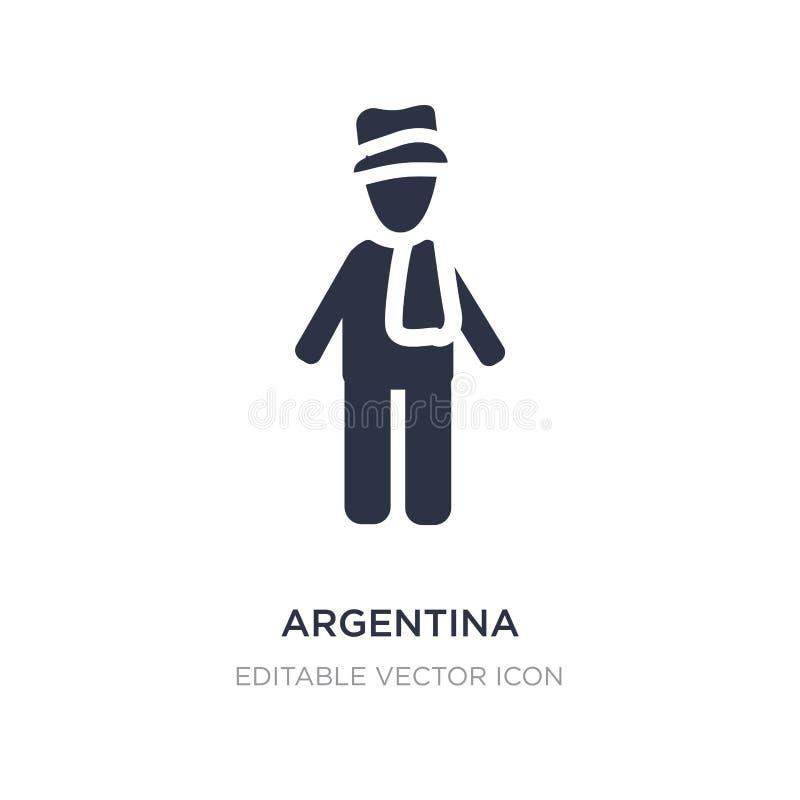 ícone de Argentina no fundo branco Ilustração simples do elemento do conceito dos povos ilustração do vetor