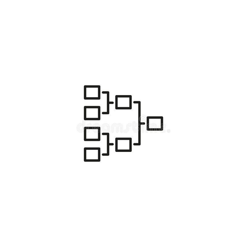 Ícone de artigos estruturados na conexão ilustração stock