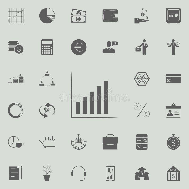 ícone de ascensão da carta Grupo detalhado de ícones da finança Sinal superior do projeto gráfico da qualidade Um dos ícones da c ilustração royalty free