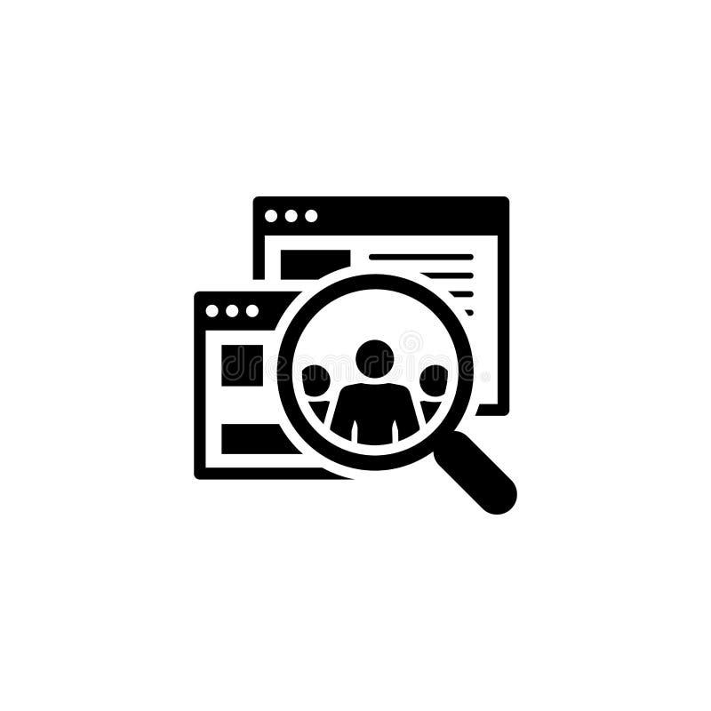 Ícone de Audiências Design plano ilustração stock