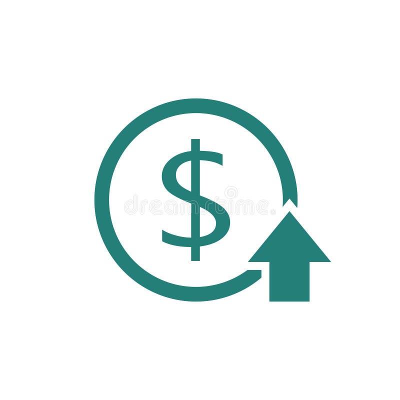 Ícone de aumentação do custo ilustração do vetor