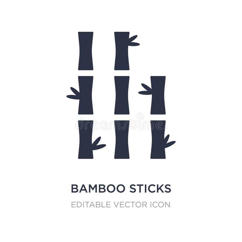 ícone de bambu das varas no fundo branco Ilustração simples do elemento do conceito da natureza ilustração do vetor