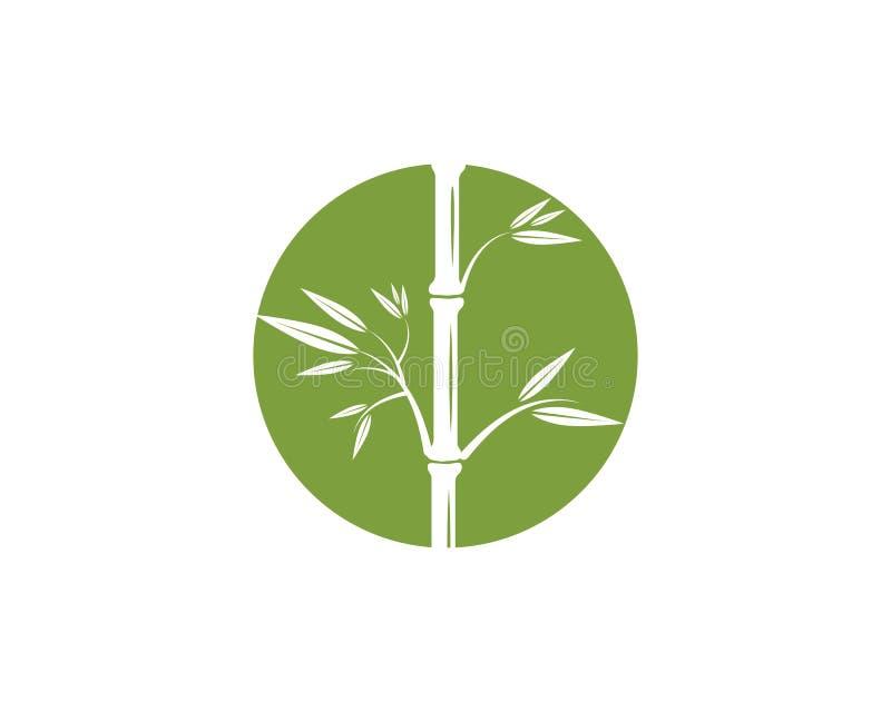 Ícone de bambu do vetor de Logo Template ilustração stock