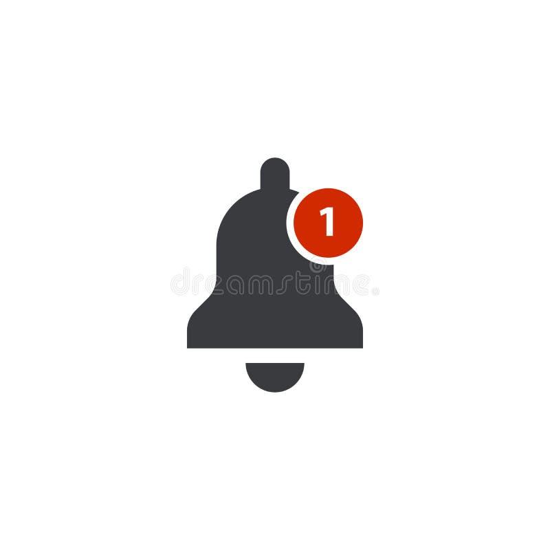 Ícone de Bell Engrena o ícone Símbolo da forma de Bell Sinal da notificação Botão do sinal de alarme Sino do tinir ilustração stock
