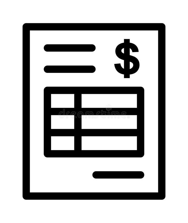 Ícone de Bill ilustração stock