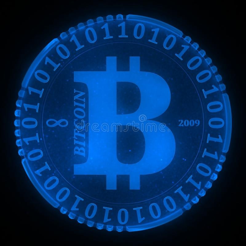 Ícone de Bitcoin foto de stock royalty free