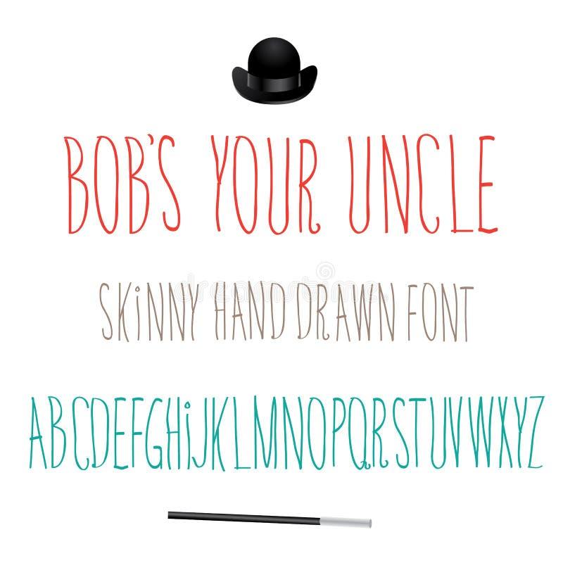 Ícone de Bobs Your Uncle Font Symbol ilustração stock