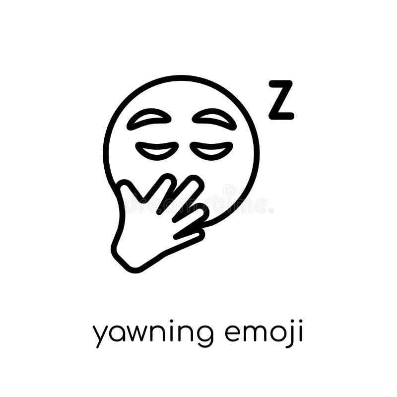 Ícone de bocejo do emoji da coleção de Emoji ilustração royalty free