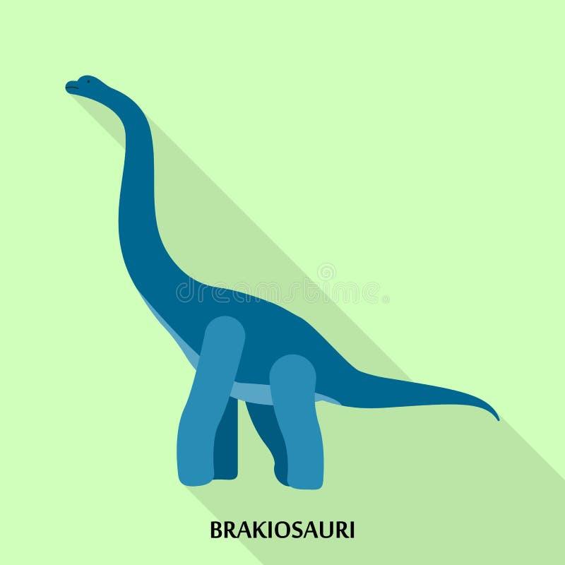 Ícone de Brakiosauri, estilo liso ilustração royalty free