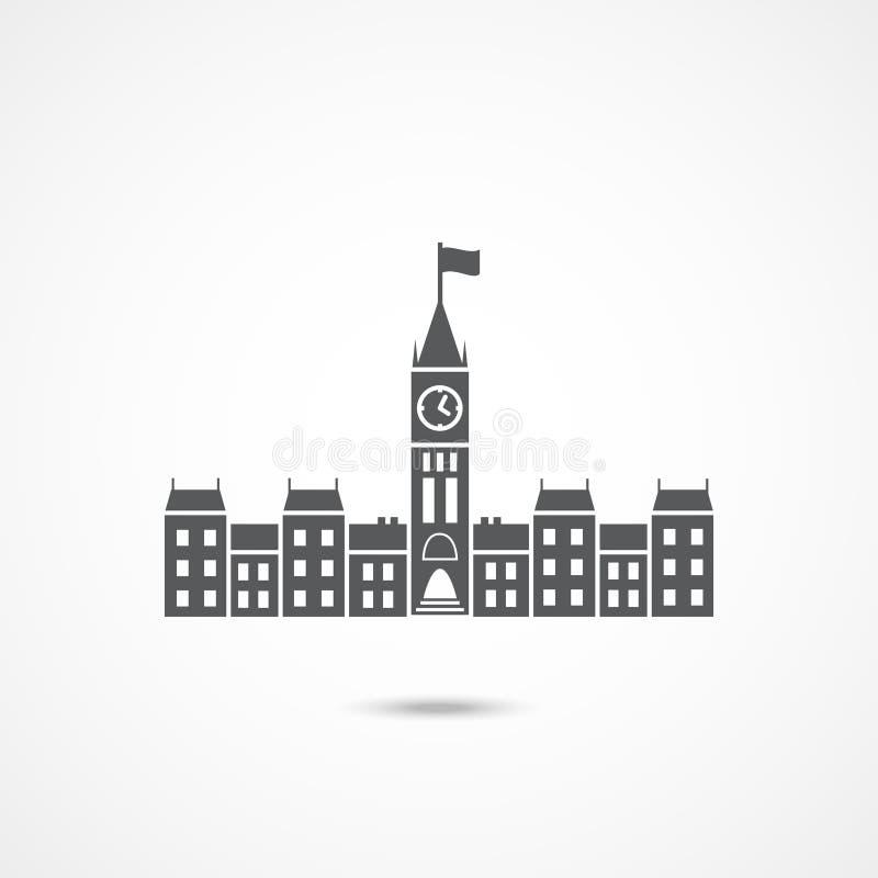 Ícone de Canadá do parlamento ilustração royalty free