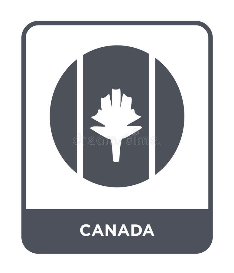 ícone de Canadá no estilo na moda do projeto ícone de Canadá isolado no fundo branco símbolo liso simples e moderno do ícone do v ilustração do vetor
