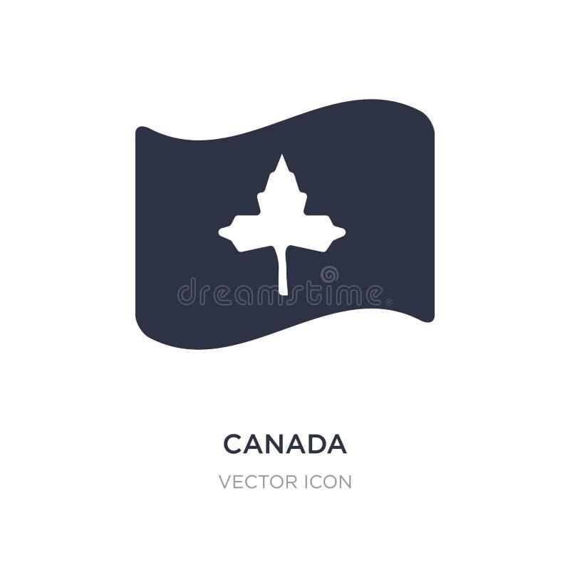 ícone de Canadá no fundo branco Ilustração simples do elemento do conceito da ação de graças ilustração do vetor