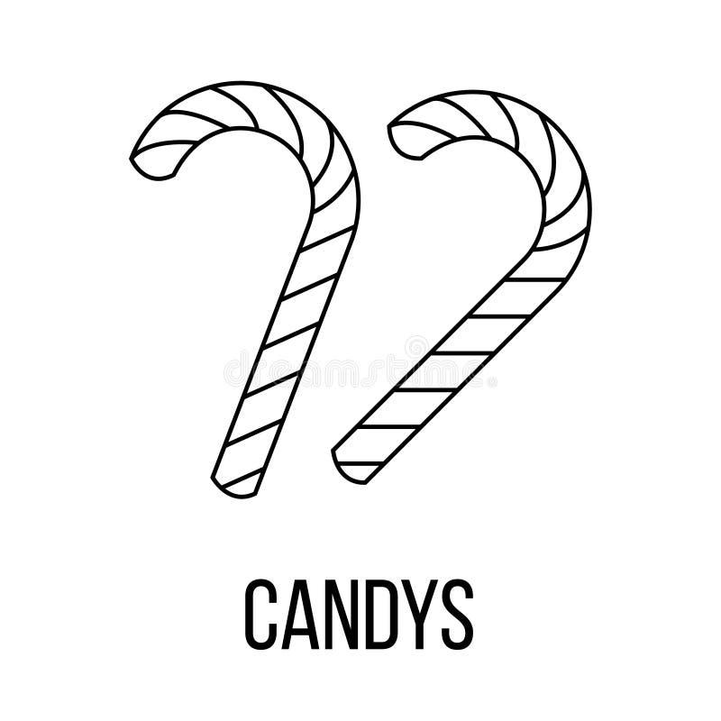 Ícone de Candys ou linha estilo do logotipo da arte ilustração royalty free