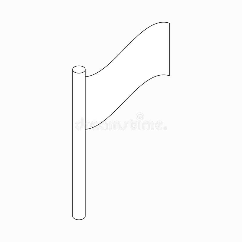 Ícone de canto da bandeira, no estilo 3d isométrico ilustração do vetor