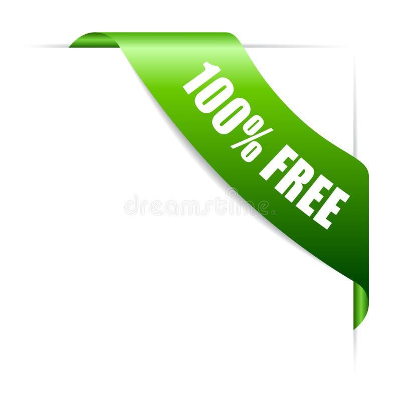 ícone de canto livre do vetor da fita 100 ilustração royalty free