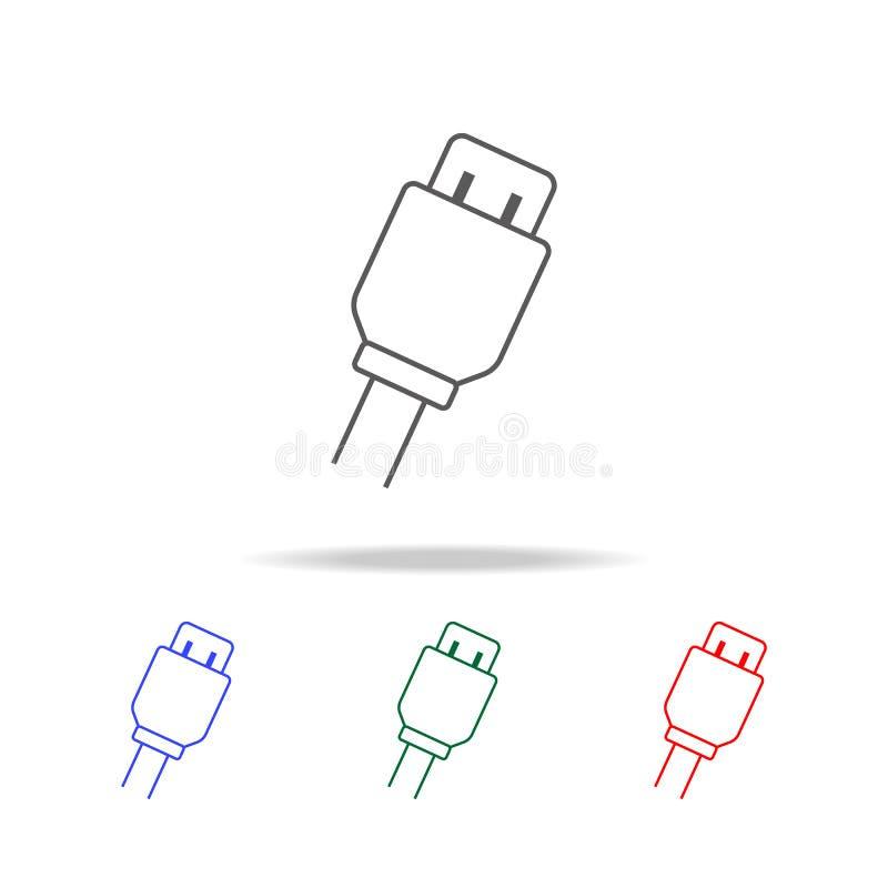 Ícone de carregamento da tomada do Usb Elementos em multi ícones coloridos para apps móveis do conceito e da Web Ícones para o pr ilustração stock