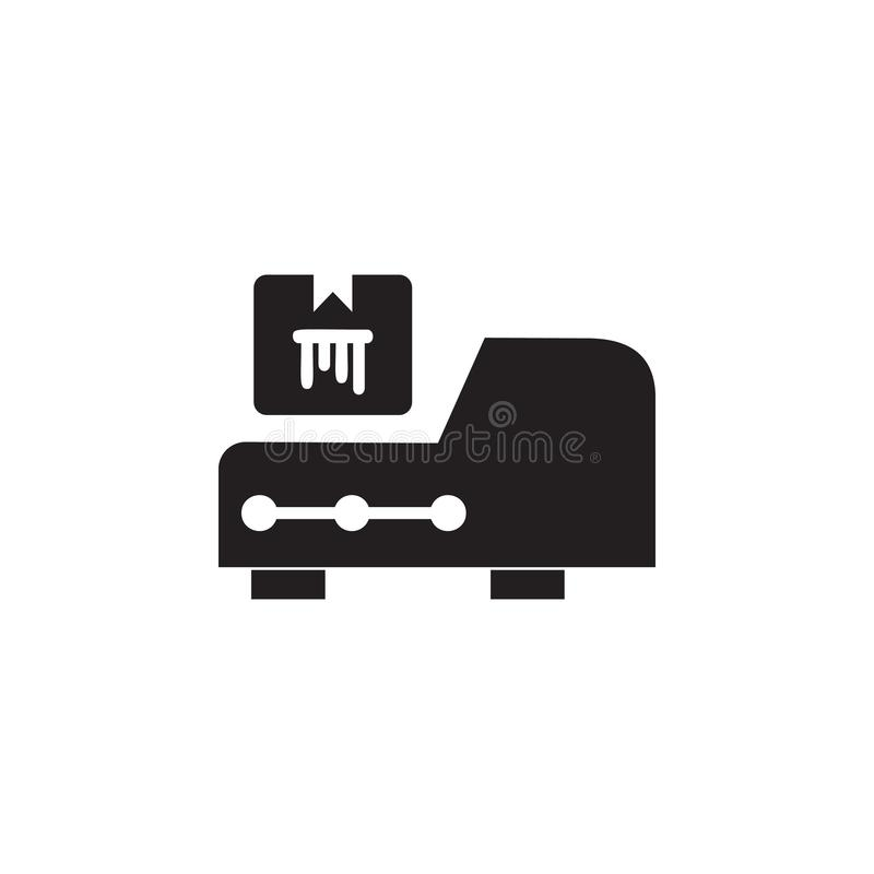 Ícone de Cartridge da impressora Elemento da ilustração da casa de impressão Ícone superior do projeto gráfico da qualidade sinai ilustração royalty free
