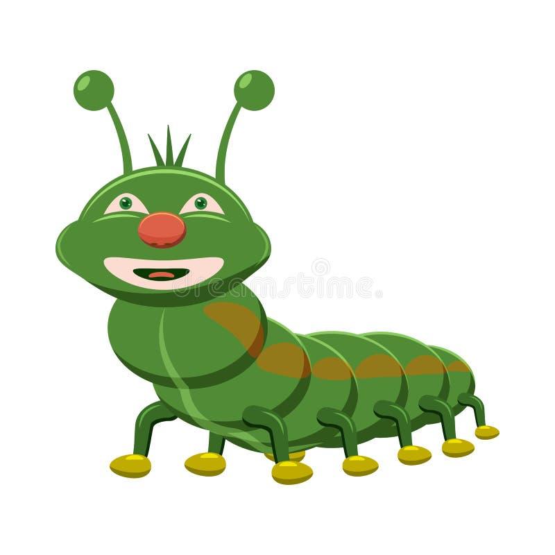 Ícone de Caterpillar, estilo dos desenhos animados ilustração royalty free