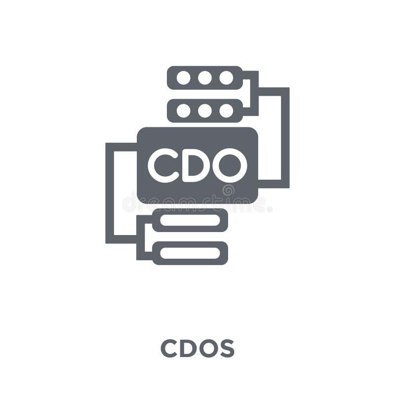 Ícone de CDOs da coleção de CDOs ilustração do vetor