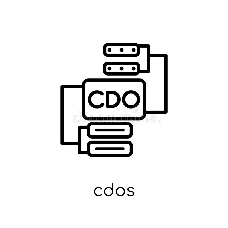 Ícone de CDOs da coleção de CDOs ilustração royalty free