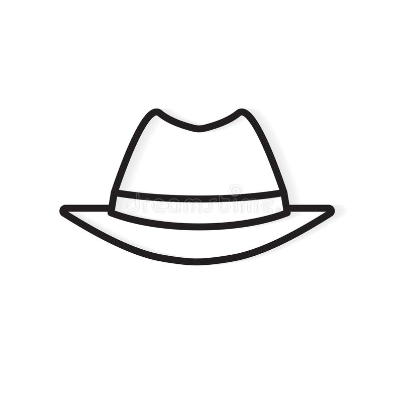 Ícone de chapéu de espião macho da Vintage ilustração royalty free