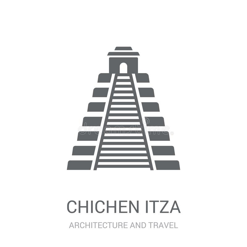 Ícone de Chichen Itza  ilustração royalty free