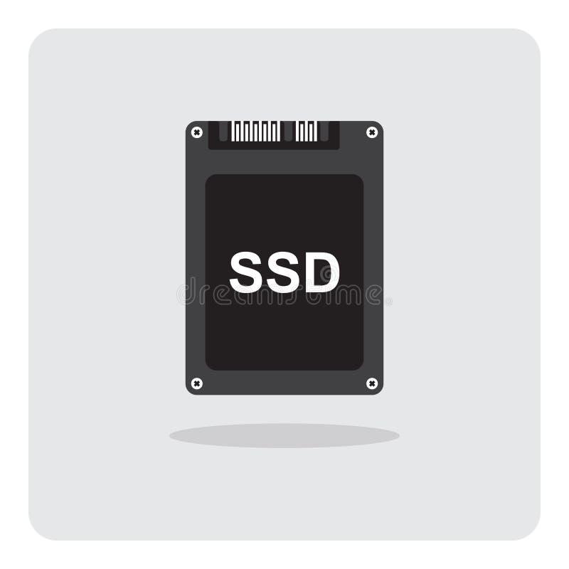 Ícone de circuito integrado do disco rígido do SSD da movimentação ilustração do vetor