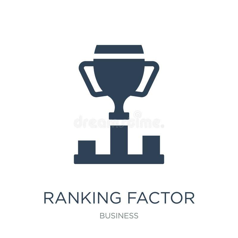 ícone de classificação do fator no estilo na moda do projeto ícone de classificação do fator isolado no fundo branco ícone de cla ilustração do vetor