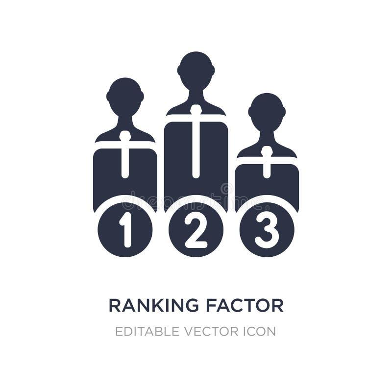 ícone de classificação do fator no fundo branco Ilustração simples do elemento do conceito do negócio ilustração do vetor