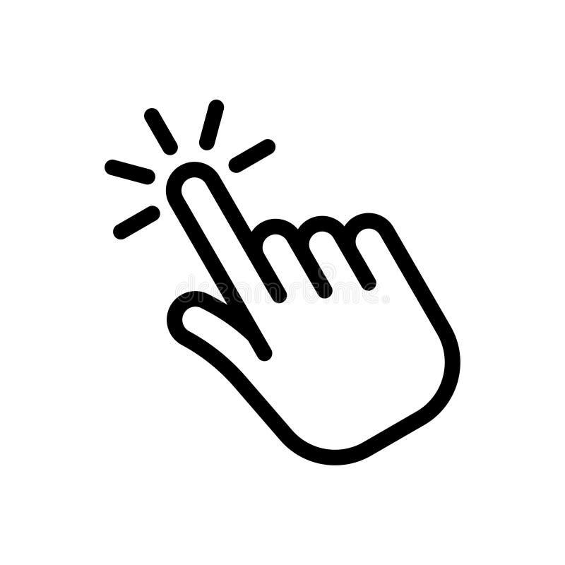 Ícone de clique da mão ilustração do vetor