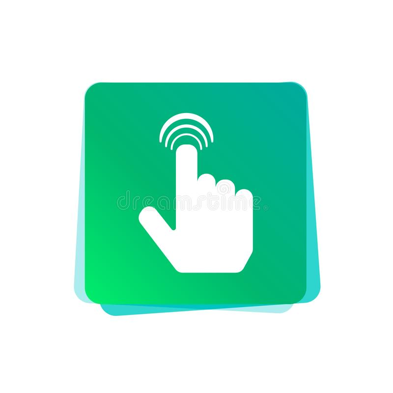 Ícone de clique do vetor Botão do controle do toque ilustração royalty free