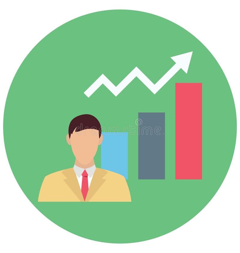 Ícone de Color Isolated Vetora do economista que pode ser facilmente editar ou alterou ilustração stock