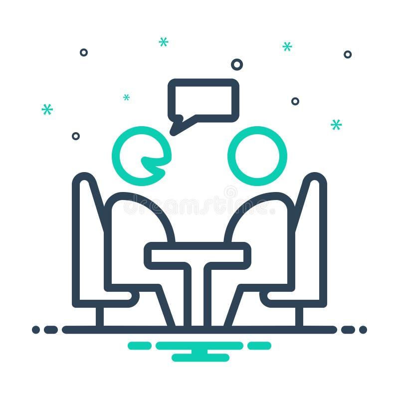 Ícone de combinação para consultor, opinião e aconselhamento ilustração stock