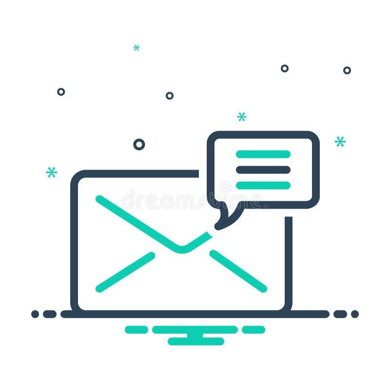 ícone de combinação para e-mail, correspondência e mensagem ilustração royalty free