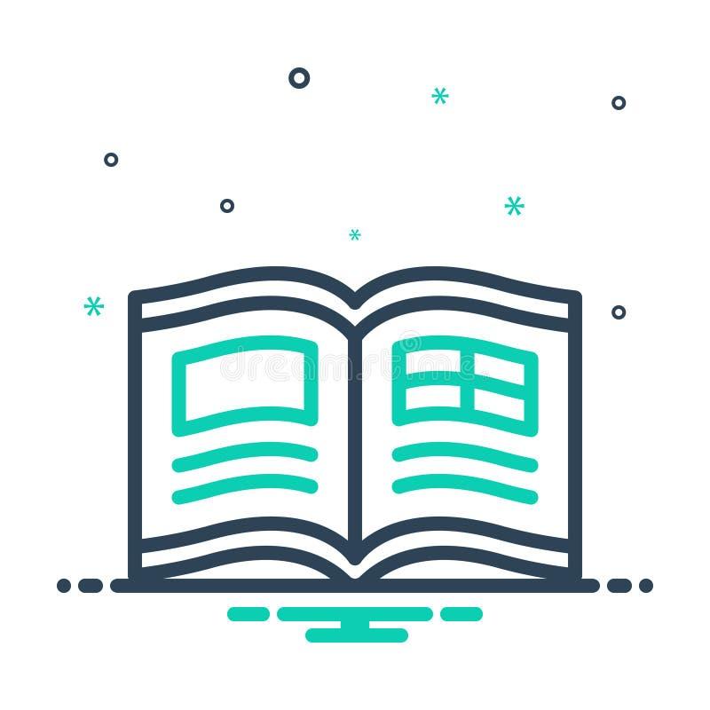 Ícone de combinação para Revista, livreto e leitura ilustração royalty free