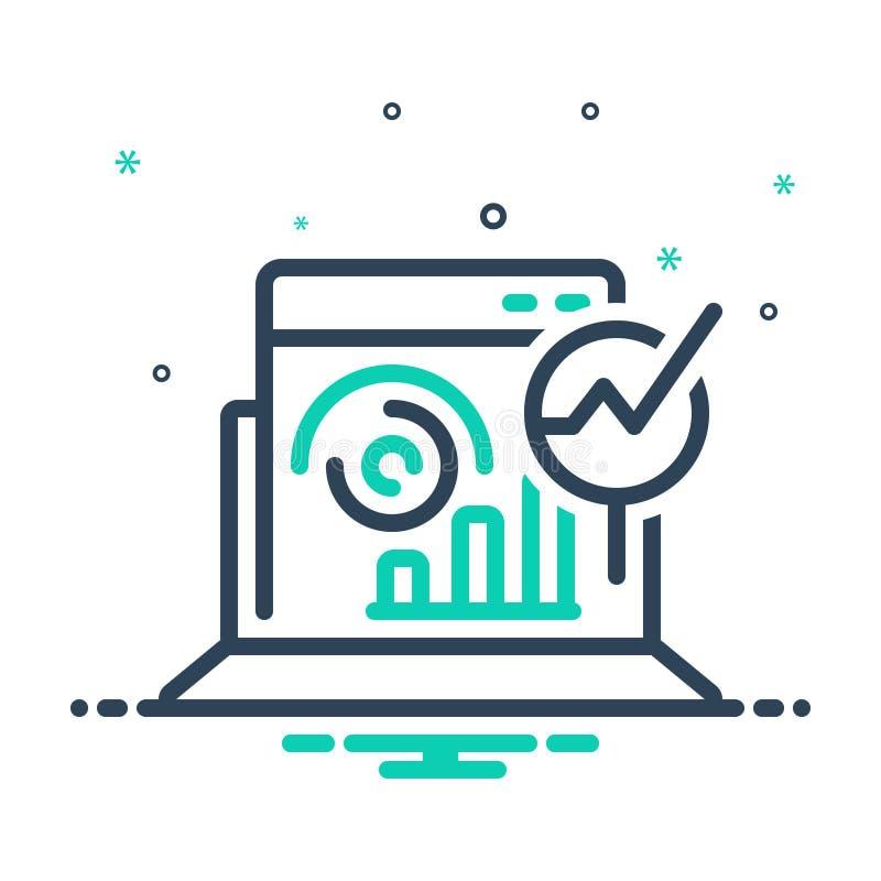 ícone de combinação para Web Analytics, otimização e estatísticas ilustração do vetor