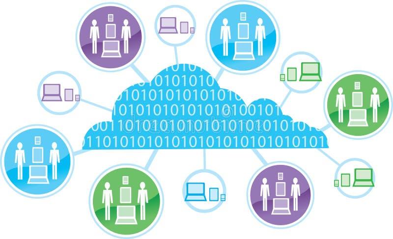 Ícone de computação da nuvem ilustração royalty free