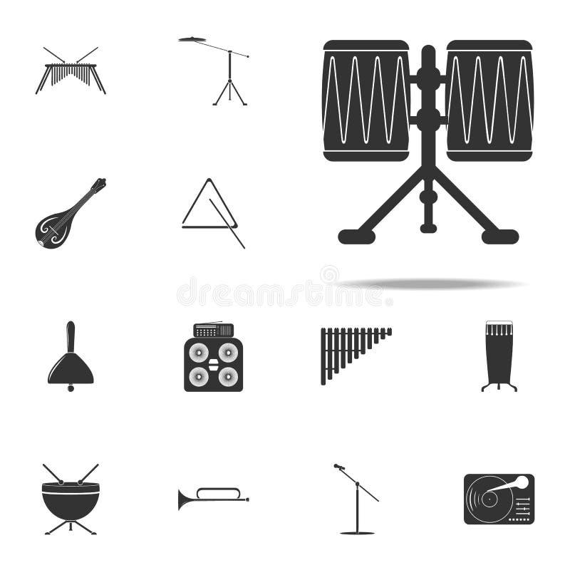 ícone de Congo de choque Grupo universal dos ícones dos instrumentos de música para a Web e o móbil ilustração stock