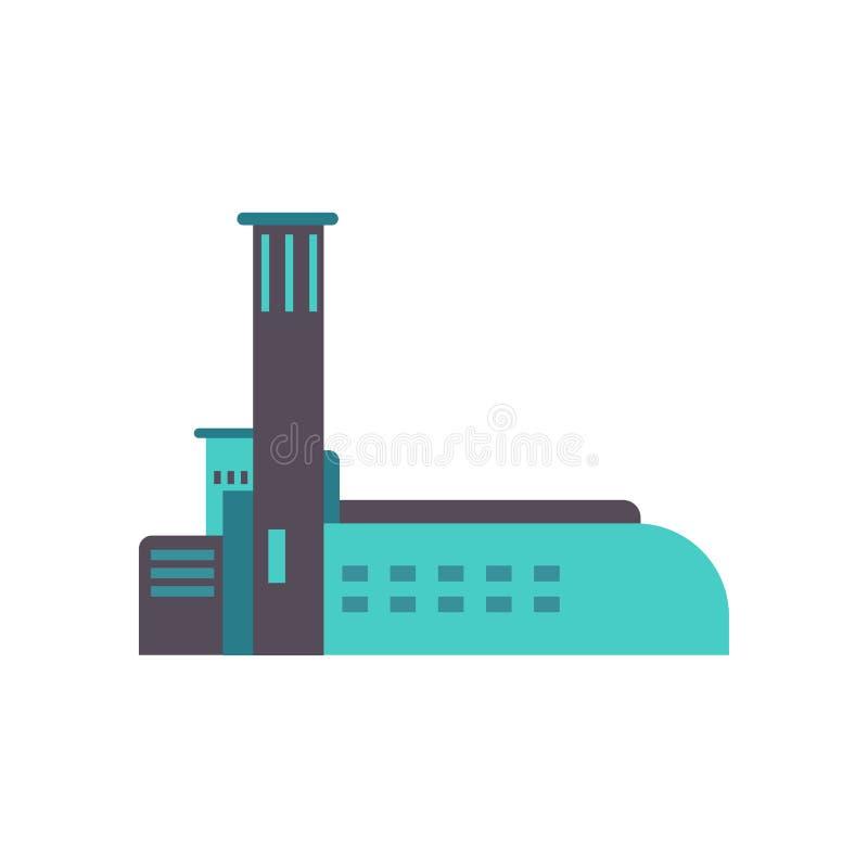 Ícone de construção do negócio do vetor da cidade Exterior urbano da casa da construção moderna da arquitetura Projeto da arquite ilustração stock