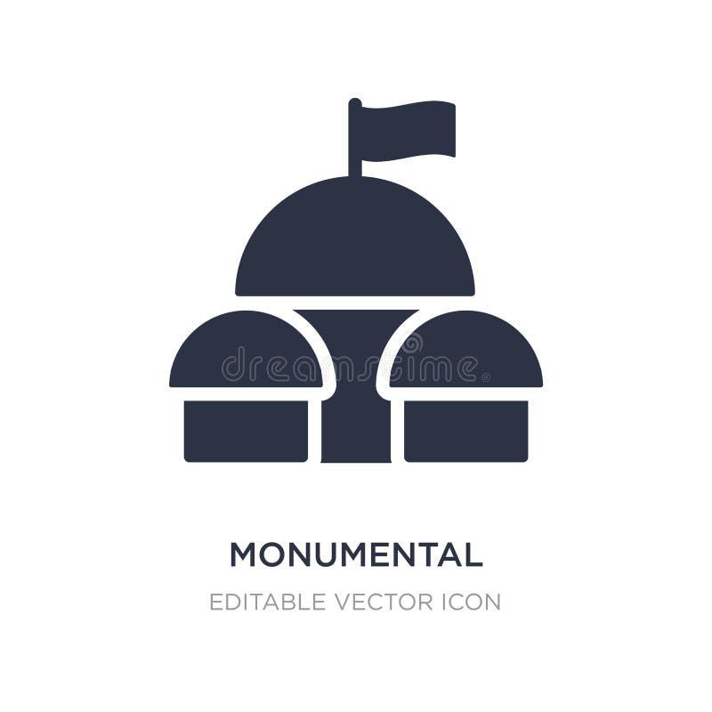 ícone de construção monumental no fundo branco Ilustração simples do elemento do conceito dos monumentos ilustração royalty free