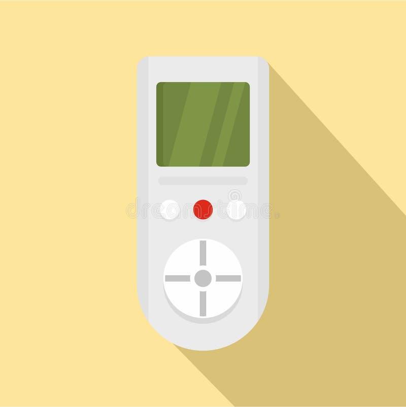 Ícone de controle remoto do condicionador de Digitas, estilo liso ilustração do vetor