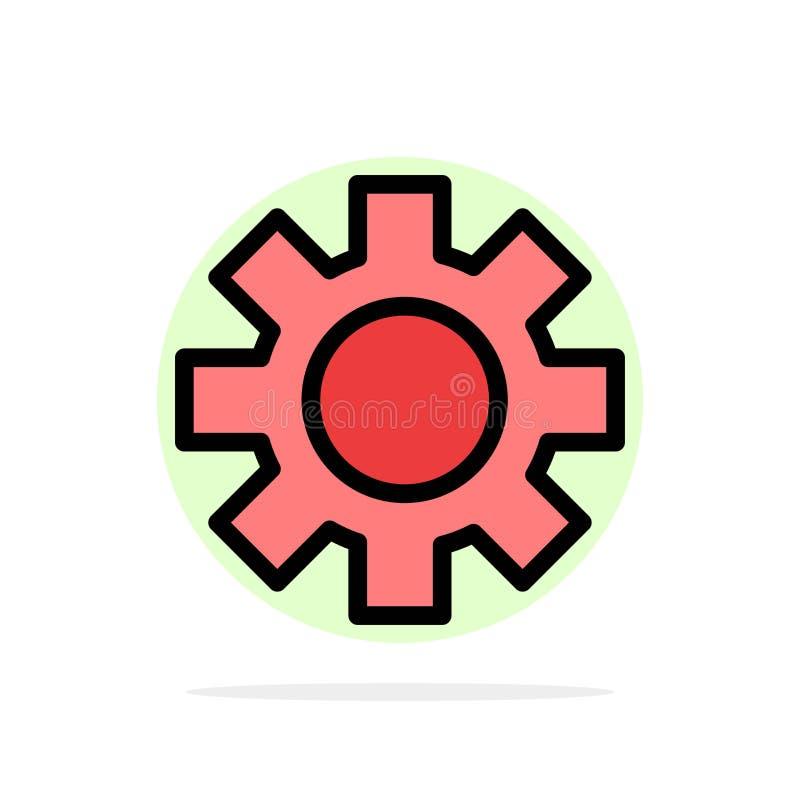Ícone de cor plano plano de fundo do círculo abstrato global Setting, Gear, Logistic ilustração stock