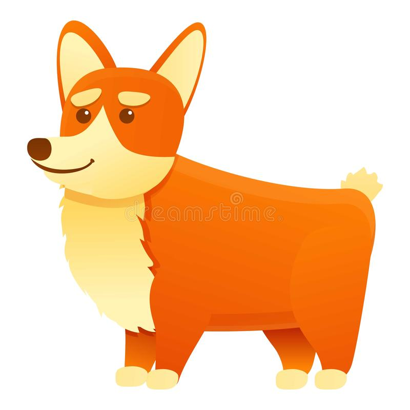 Ícone de corgi canino, estilo de desenho animado ilustração royalty free