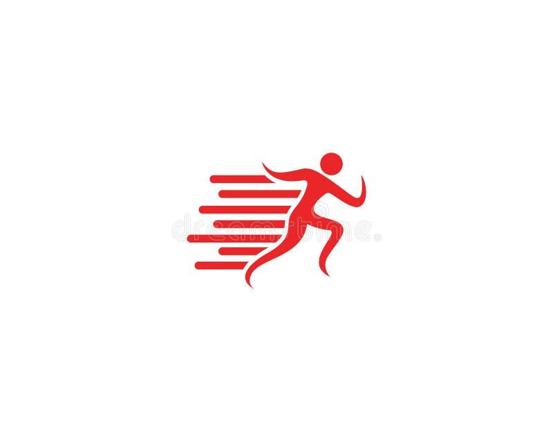 ícone de corrida do logotipo da raça ilustração do vetor