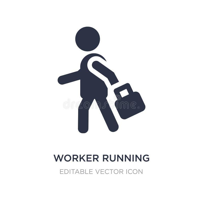 ícone de corrida do trabalhador no fundo branco Ilustração simples do elemento do conceito dos povos ilustração royalty free