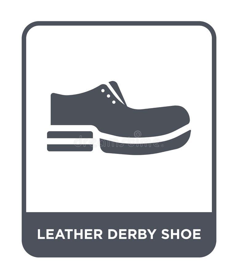 ícone de couro da sapata do derby no estilo na moda do projeto ícone de couro da sapata do derby isolado no fundo branco vetor de ilustração royalty free
