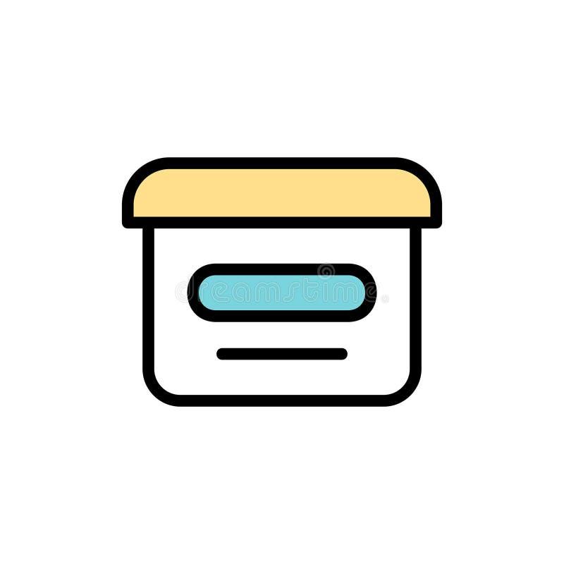 Ícone de creme cosmético ilustração stock