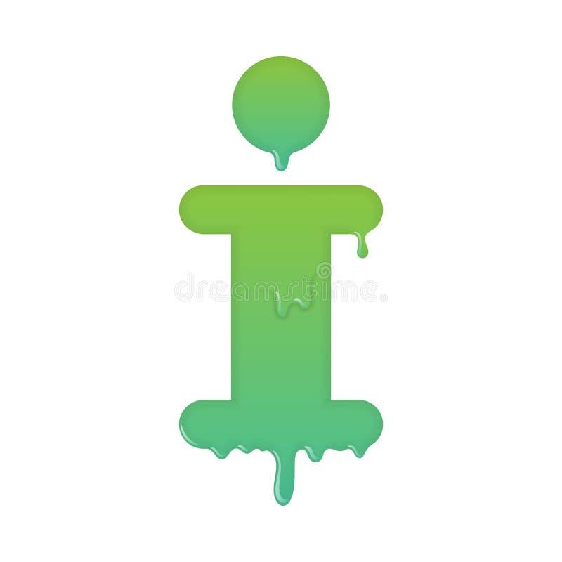 Ícone de derretimento da informação, do apoio e do serviço de atenção ilustração stock
