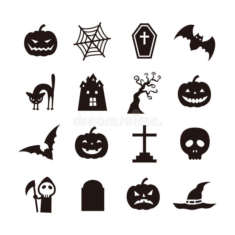 Ícone de Dia das Bruxas ilustração stock
