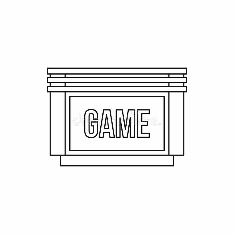 Ícone de disco flexível dos jogos, estilo do esboço ilustração royalty free